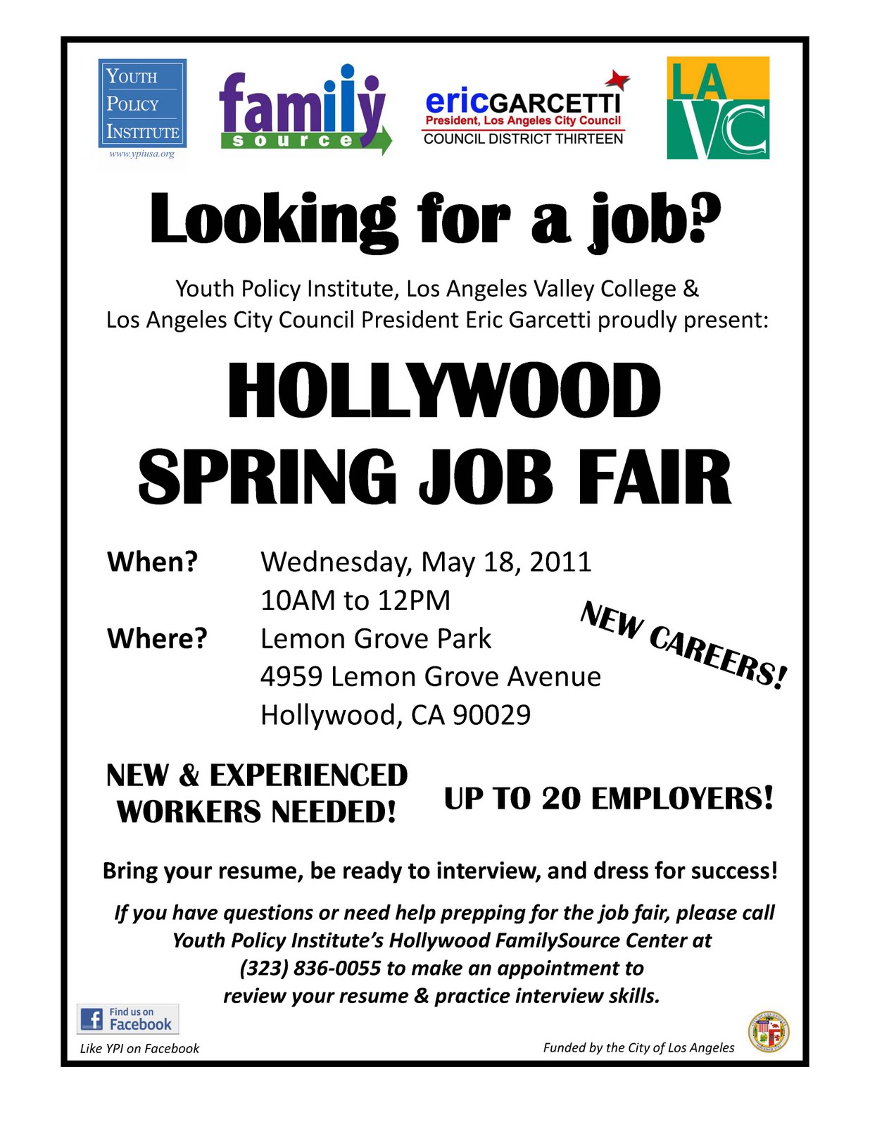 hollywood spring job fair hollywood community studio